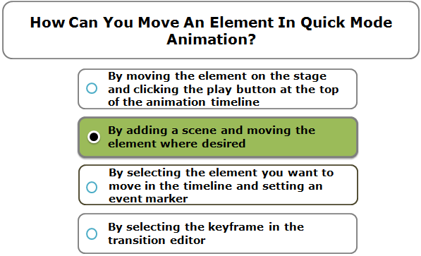 How Can You Move An Element In Quick Mode Animation?