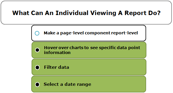 What Can An Individual Viewing A Report Do?
