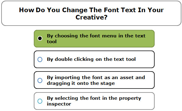 How Do You Change The Font Text In Your Creative?