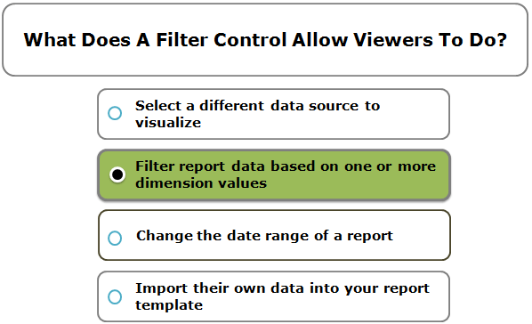 What Does A Filter Control Allow Viewers To Do?
