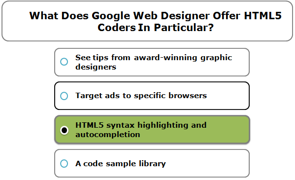 What Does Google Web Designer Offer HTML5 Coders In Particular?