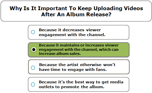 Why Is It Important To Keep Uploading Videos After An Album Release?