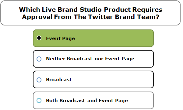 Which Live Brand Studio Product Requires Approval From The Twitter Brand Team?