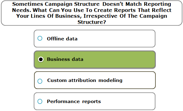 Sometimes Campaign Structure Doesn't Match Reporting Needs. What Can You Use To Create Reports That Reflect Your Lines Of Business, Irrespective Of The Campaign Structure?