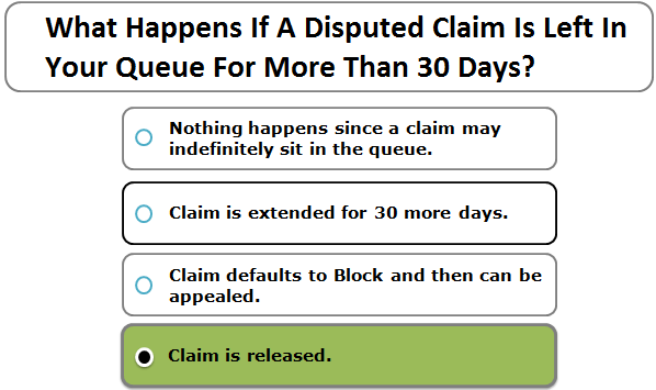 What Happens If A Disputed Claim Is Left In Your Queue For More Than 30 Days?