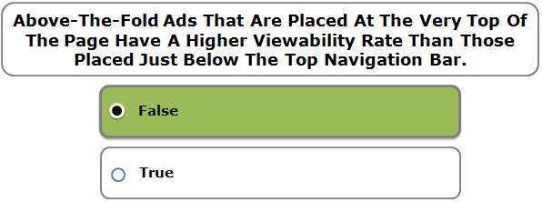 Above-The-Fold Ads That Are Placed At The Very Top Of The Page Have A Higher Viewability Rate Than Those Placed Just Below The Top Navigation Bar.