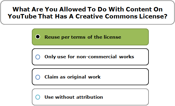 What Are You Allowed To Do With Content On YouTube That Has A Creative Commons License?