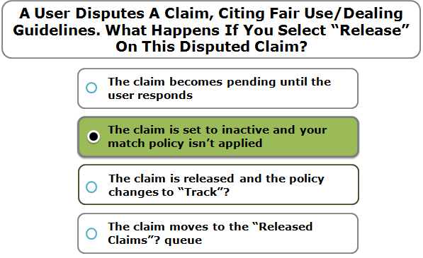 """A User Disputes A Claim, Citing Fair Use/Dealing Guidelines. What Happens If You Select """"Release"""" On This Disputed Claim?"""
