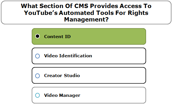 What Section Of CMS Provides Access To YouTube's Automated Tools For Rights Management?
