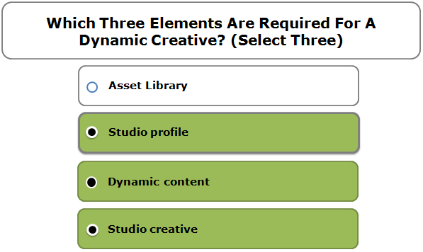 Which Three Elements Are Required For A Dynamic Creative? (Select Three)