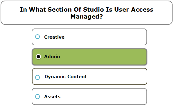 In What Section Of Studio Is User Access Managed?