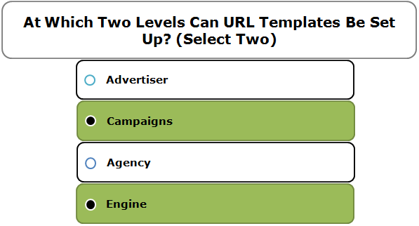 At Which Two Levels Can URL Templates Be Set Up? (Select Two)