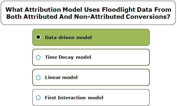 What Attribution Model Uses Floodlight Data From Both Attributed And Non-Attributed Conversions?