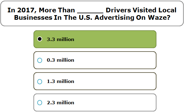 In 2017, More Than ______ Drivers Visited Local Businesses In The U.S. Advertising On Waze?