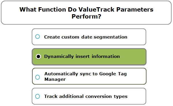 What Function Do ValueTrack Parameters Perform?