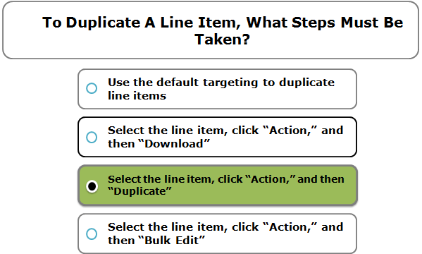 To Duplicate A Line Item, What Steps Must Be Taken?