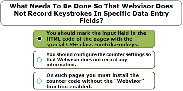 What Needs To Be Done So That Webvisor Does Not Record Keystrokes In Specific Data Entry Fields?
