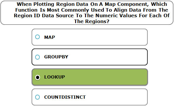 When Plotting Region Data On A Map Component, Which Function Is Most Commonly Used To Align Data From The Region ID Data Source To The Numeric Values For Each Of The Regions?