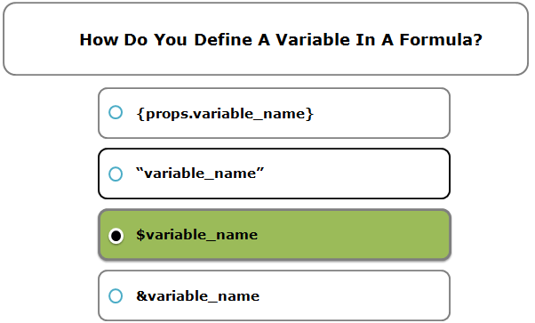 How Do You Define A Variable In A Formula?