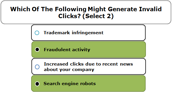 Which Of The Following Might Generate Invalid Clicks? (Select 2)