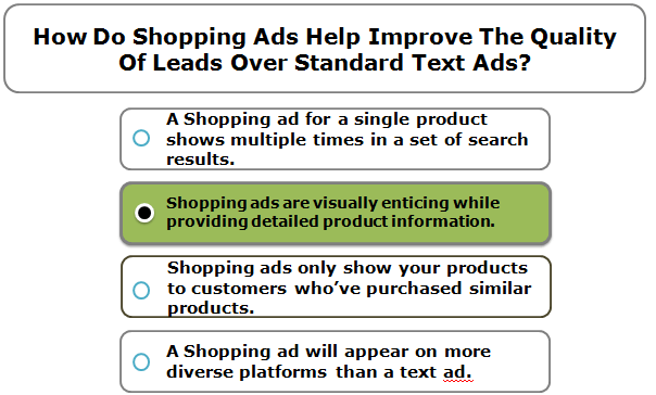 How Do Shopping Ads Help Improve The Quality Of Leads Over Standard Text Ads?