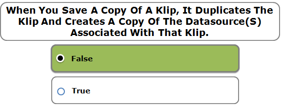 When You Save A Copy Of A Klip, It Duplicates The Klip And Creates A Copy Of The Datasource(S) Associated With That Klip.