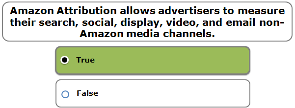 Amazon Attribution allows advertisers to measure their search, social, display, video, and email non-Amazon media channels.