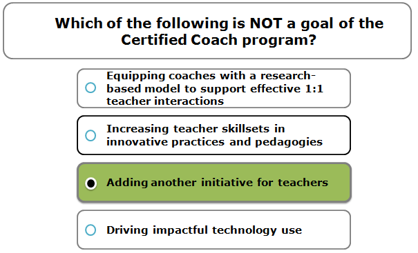 Which of the following is NOT a goal of the Certified Coach program?
