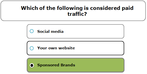 Which of the following is considered paid traffic?