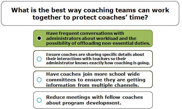 What is the best way coaching teams can work together to protect coaches' time?