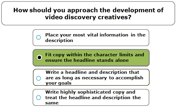 How should you approach the development of video discovery creatives?