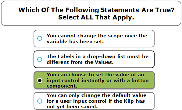 Which of the following statements are true? Select ALL that apply.