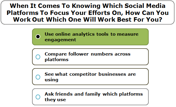 When it comes to knowing which social media platforms to focus your efforts on, how can you work out which one will work best for you?