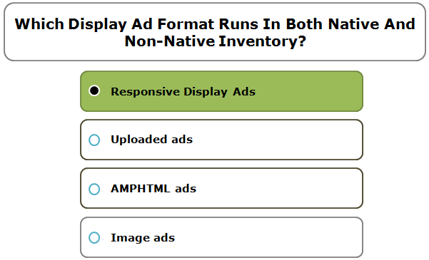 Which Display Ad format runs in both native and non-native inventory?
