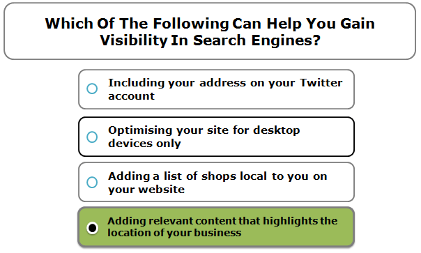 Which of the following can help you gain visibility in search engines?