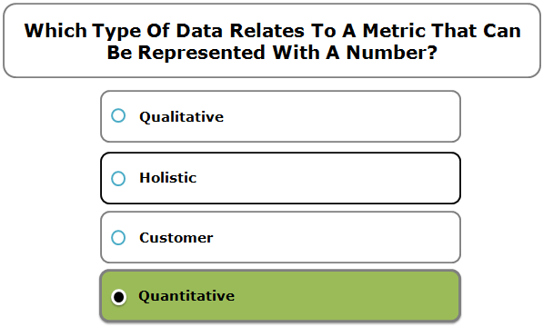 Which type of data relates to a metric that can be represented with a number?