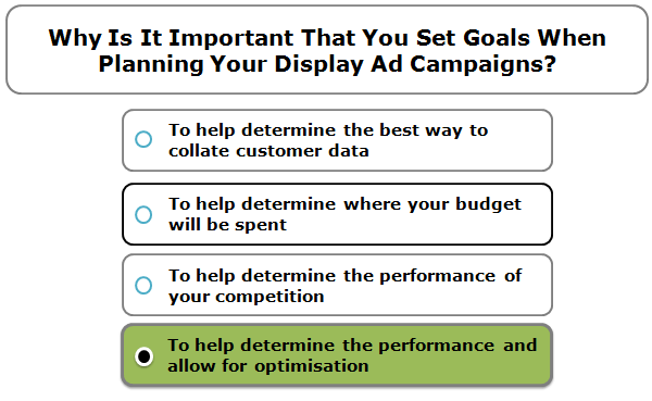 Why is it important that you set goals when planning your display ad campaigns?