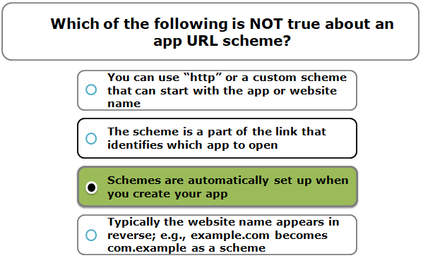 Which of the following is NOT true about an app URL scheme?