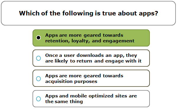 Which of the following is true about apps?