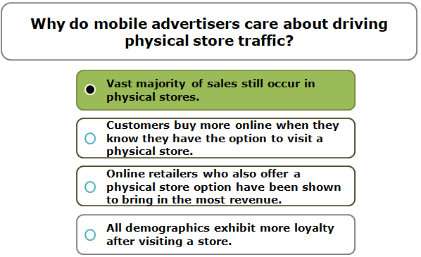 Why do mobile advertisers care about driving physical store traffic?