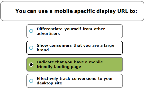 You can use a mobile specific display URL to: