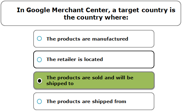 In Google Merchant Center, a target country is the country where: