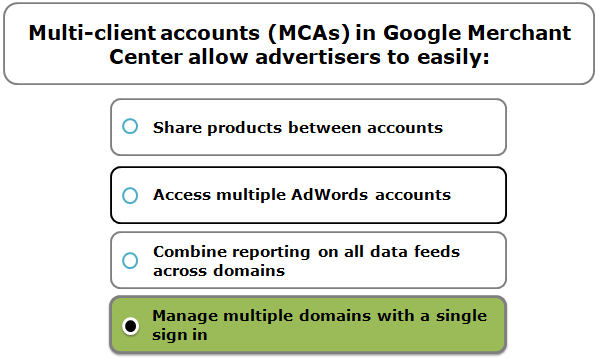 Multi-client accounts (MCAs) in Google Merchant Center allow advertisers to easily: