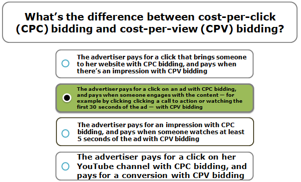 What's the difference between cost-per-click (CPC) bidding and cost-per-view (CPV) bidding?